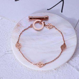 Tory Burch Cutout Round Multi Pendant Bracelet